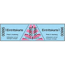 Sigel Eintrittskarten 6 x 3 cm Blau 1 Stück à 1000 Stück 18042001