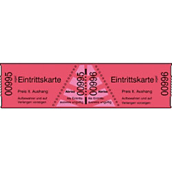 Sigel Eintrittskarten 6 x 3 cm Rot 1 Stück à 1000 Stück 18042015
