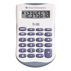 Texas Instruments Taschenrechner TI-501 55 mm Blau, Weiß 90 x 55 x 10 mm