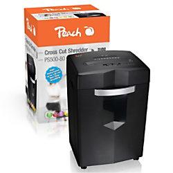 Peach Aktenvernichter PS500-80 Partikelschnitt Sicherheitsstufe P-4