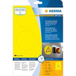HERMA Wetterfeste Etiketten 8035 Gelb Ø13 mm 25 Blatt à 6 Etiketten