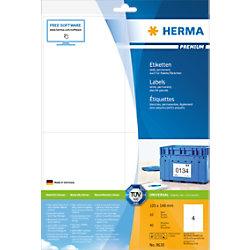 HERMA Versandetiketten 8630 Weiß Rechteckig 105 x 148 mm 10 Blatt à 4 Etiketten