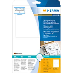 HERMA Versandetiketten 8316 Weiß Rechteckig 182 x 130 mm 25 Blatt à 1 Etikett
