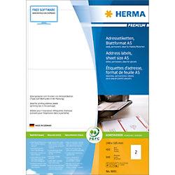 HERMA Adressetiketten 8691 Weiß Quadratisch 148 x 105 mm 400 Blatt à 2 Etiketten