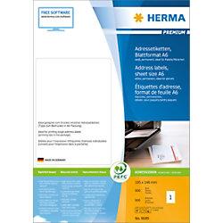 HERMA Versandetiketten 8689 Weiß Rechteckig 105 x 148 mm 800 Blatt à 1 Etikett