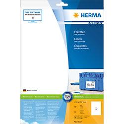 HERMA Versandetiketten 8637 Weiß Rechteckig 210 x 297 mm 10 Blatt à 1 Etikett
