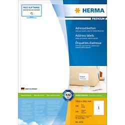 HERMA Versandetiketten 4252 Weiß Rechteckig 199,6 x 289,1 mm 100 Blatt à 1 Etikett