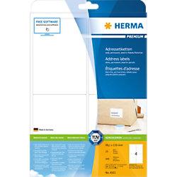 HERMA Versandetiketten 4503 Weiß Rechteckig 99,1 x 139 mm 25 Blatt à 4 Etiketten