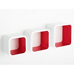 Casa Pura Cube Regal Cambridge Mitteldichte Holzfaserplatte Rot, Weiß fd-9831