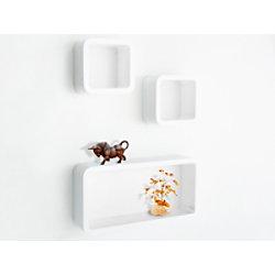 Casa Pura Cube Regal Oxford Mitteldichte Holzfaserplatte Weiß fd-9837