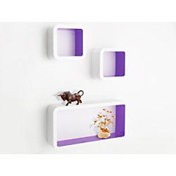 Casa Pura Cube Regal Oxford Mitteldichte Holzfaserplatte Weiß, Lila fd-9839