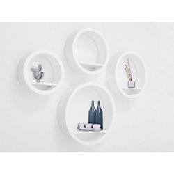Casa Pura Wandregal Milano Mitteldichte Holzfaserplatte Weiß fd-9845