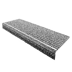 Floordirekt Step Stufenmatte PES, Glasgarn, PVC Grau 250 x 730 mm fd-9397