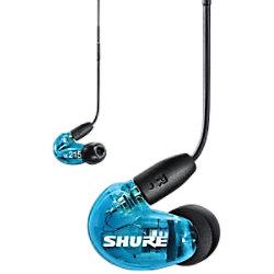 Shure Kabellose Ohrhörer SE215 Bluetooth Schallisolierend Mit Mikrofon Blau SE215SPE-B-TW1-EFS