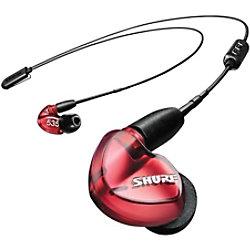Shure Kabelgebundene Ohrhörer SE535 + UNI-EFS 3.5 mm Anschluss Schallisolierend Mit Mikrofon Rot SE535LTD+UNI-EFS