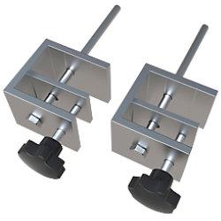 Nobo Premium Plus Protective Befestigungsklemme für Schreibtisch 2 Stück 1915555