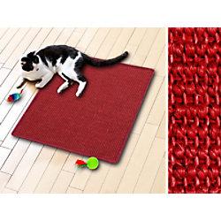 Casa Pura Katzen-Kratzteppich Sisal Rot 500 x 500 mm fd-5587