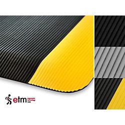 etm Arbeitsmatte Heavy-Duty Ripp PVC, Vinyl Grau 900 x 1500 mm fd-2072