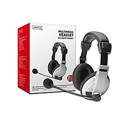 Digitus Digitus Headset Verkabelt Kopfbügel Noise Cancelling Schwarz mit Mikrofon DA-12201