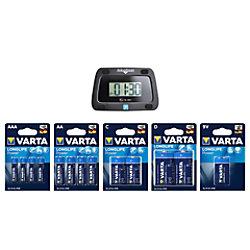 Varta Batterie Batterie-Set (diverse Bauformen) Varta Sales Drive Longlife Power Set + Elektronische Parkscheibe Stück 09137 110 808
