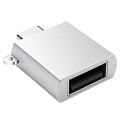 Satechi USB-Adapter Typ C auf Typ A, Silber ST-TCUAS