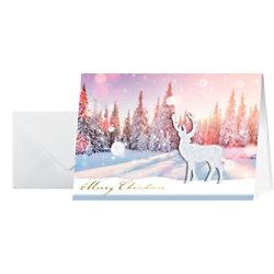 Sigel Weihnachtskarte Reh DIN A6 10 Stück DS066