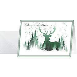 Sigel Weihnachtskarte Wald DIN A6 25 Stück DS063
