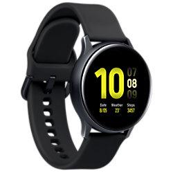 Samsung Sportuhr mit SIM Galaxy Watch Active2 LTE Aqua 40 mm Schwarz SM-R835FZKADBT