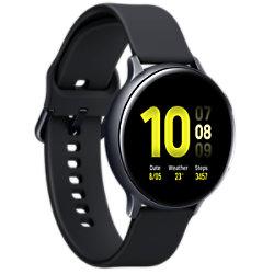 Samsung Sportuhr mit SIM Galaxy Watch Active2 LTE Aqua 44 mm Schwarz SM-R825FZKADBT