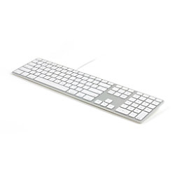 MATIAS Tastatur FK318S QWERTZ Silber Kabelgebunden FK318S-DE