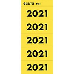 Leitz Jahr 2021 Jahreszahlen Gelb 60 x 25,5 mm 100 Stück 14210015