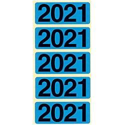 Bene Jahr 2021 Jahreszahlen Blau 48 x 19 mm 100 Stück 92021