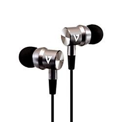 V7 Kopfhörer Verkabelt Unter dem Ohr Geräuschunterdrückung mit Mikrofon Schwarz, Silber mit Mikrofon HA111-3EB