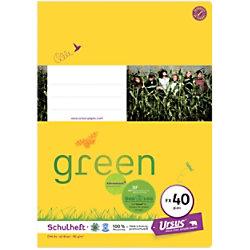 Ursus Green Ursus OE Schulheft OE.40 A4 40 Blatt 80g/qm glatt 10-A4/40