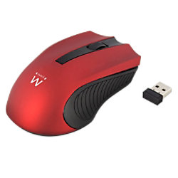 ewent Kabellose Optische Maus EW3227 Für Rechts- und Linkshänder USB-A Nano Receiver Red