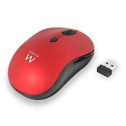 ewent Kabellose Optische Maus EW3230 Für Rechts- und Linkshänder USB-A Nano Receiver Red