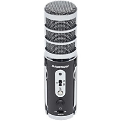 SAMSON Verkabeltes Mikrofon SATELLITE USB/Beleuchtung/3,5-mm-Anschluss Schwarz, Silber SASAT
