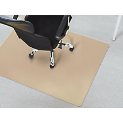 Bodenschutzmatte Floordirekt Pro Bürostuhl Beige Polypropylen 750 x 1200 mm fd-7708