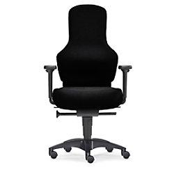 Bürostuhl Sitwell Ortholetic Balance M mit Armlehnen aus schwarzem Stoff 10 Std./Tag SY-13.130-M-94-109-30-44-10