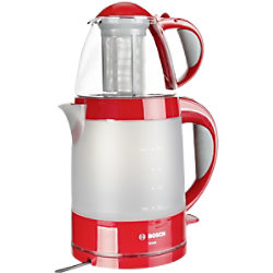 Bosch Wasserkocher Rot 0.7 l Glas, Edelstahl, Kunststoff 1500 W TTA 2010 TTA2010