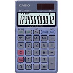 Casio Taschenrechner SL-320TER+ 12-stellige Anzeige Blau