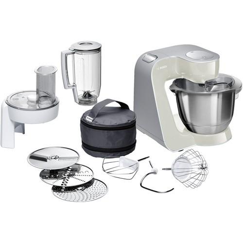 Bosch Küchenmaschine Creationline MUM58L20 1000 W 3,9 l Edelstahl, Kunststoff Grau, Silber
