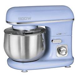 Clatronic Küchenmaschine KM 3711 1100 W 5 l Edelstahl Blau 263874