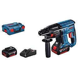 Bosch Bohrhammer GBH 18V-21 Kit L-BOXX Blau, Schwarz 611911102