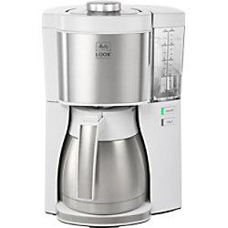 Melitta Kaffeemaschine 1025-15 ws Rostfreier Stahl, Weiß