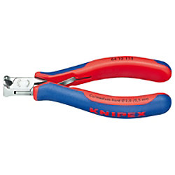 KNIPEX Endschneidezange 64 12 115 Mehrkomponenten-Hüllen 6 mm 1.4 mm Blau, Rot Kugellager Chromstahl