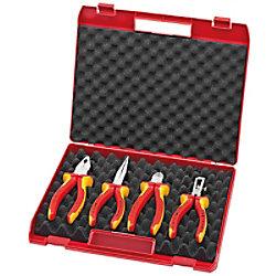 Knipex 00 20 15 Werkzeugkoffer Elektro-SetPackung mit 4 Stück Rot