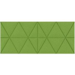 Paperflow Akustikplatte EasySound Stoff 1120 x 485 mm Grün PA485X1120.08