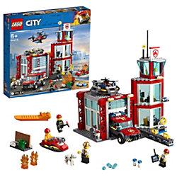 LEGO City Feuerwache Gebäude Set mit Einsatzfahrzeug Spielzeug 60215 Bauset 5+ Jahre