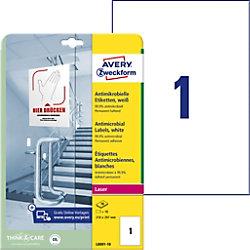 AVERY Zweckform L8001-10 Antimikrobielle Etiketten 210 x 297 mm Weiß 10 Blatt à 1 Etikett